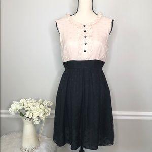 MILLY 100% Silk Pink & Black Party Dress-sz 6